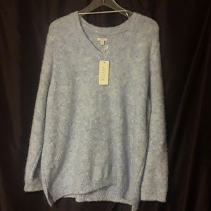 ** Sonoma Life+Style V-Neck Sweater in Mystic Blue
